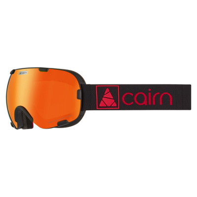 Маска горнолыжная Cairn Spirit OTG, mat black orange mirror